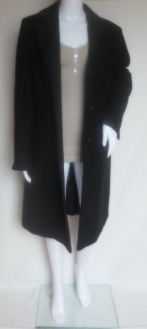 Wollmantel Coat Schwarz