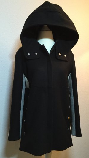 "Wollmantel ""Color-block wool-blend hooded coat"" von MAJE (Gr. FR40 = D38 + 40)"