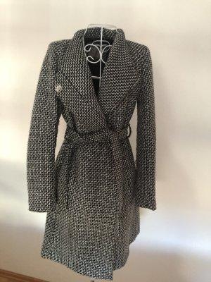 Orsay Wool Coat white-black