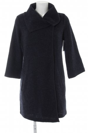 Wool Coat dark blue casual look