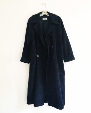 Vintage Cappotto in lana blu scuro