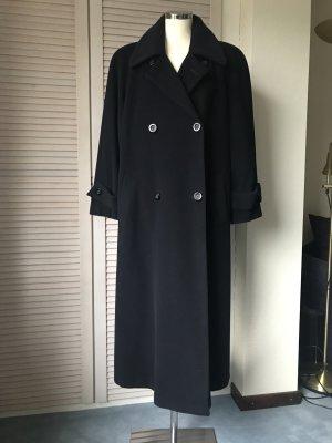 Cappotto in lana blu scuro Tessuto misto