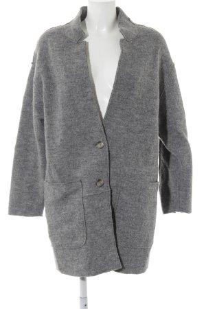 Cappotto in lana grigio scuro stile casual