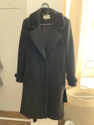 Mint&berry Abrigo de lana negro-color oro