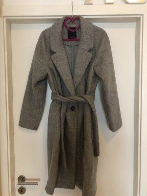 Yessica Abrigo de lana color plata