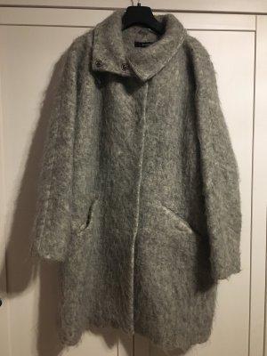 Hallhuber Abrigo de lana gris claro-gris