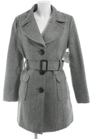 Manteau en laine gris moucheté élégant