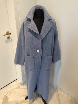 Made in Italy Wollen jas lichtblauw-babyblauw