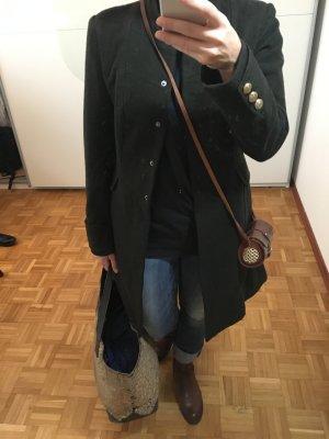 H&M Wollen jas donkergroen Wol