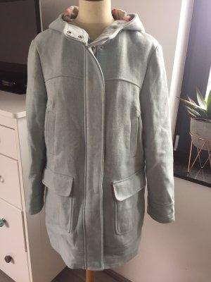 Manteau en laine bleu pâle-gris vert