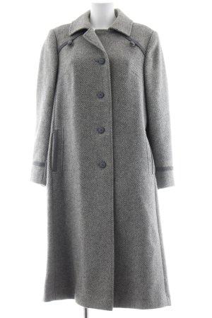 Cappotto in lana grigio chiaro-grigio puntinato stile classico