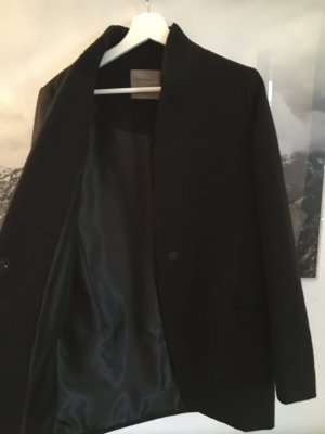 Wollmantel im Long-Blazer Look