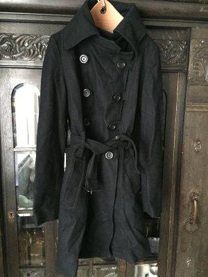 Wollmantel im Trenchcoat Look