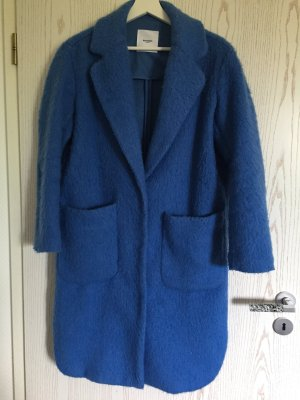 Mango casual Wollen jas korenblauw