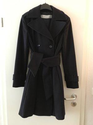Intrend Wool Coat dark blue wool
