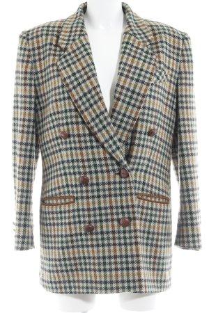 Wollen jas geruite print elegant