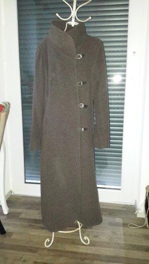 Fox Cappotto in lana marrone scuro