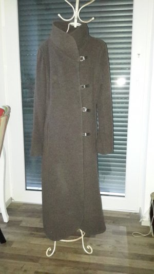 Fox Wool Coat dark brown