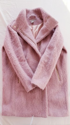 Wollmantel Mantel Jacke Parker rosa rose pink  M