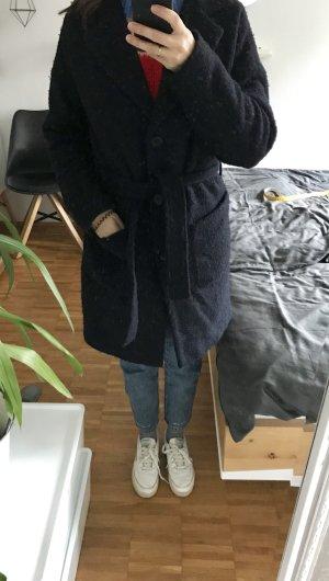 Wollmantel Mbym blau-schwarz