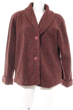 Manteau en laine multicolore style décontracté