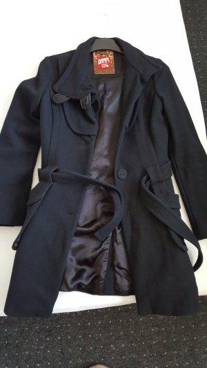 Miss Sixty Wool Coat black wool
