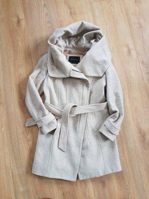Zara Basic Wollen jas wolwit Katoen