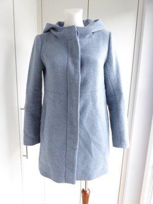 Zara Basic Cappotto in lana azzurro-blu neon Poliestere