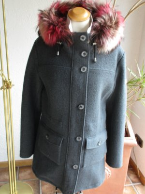 Frieda & Freddies New York Hooded Coat dark grey mixture fibre