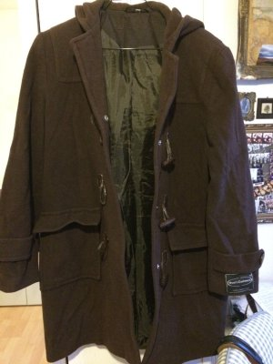 Authentic Coat dark brown-brown cashmere