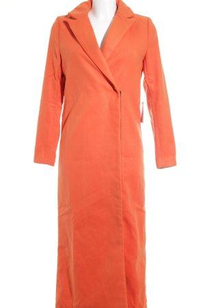 Manteau en laine orange style d'affaires