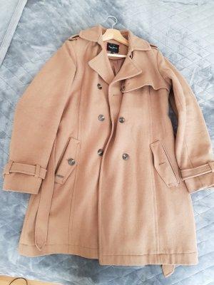 Pepe Jeans Cappotto in lana marrone chiaro