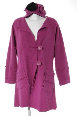 Manteau en laine rose style décontracté
