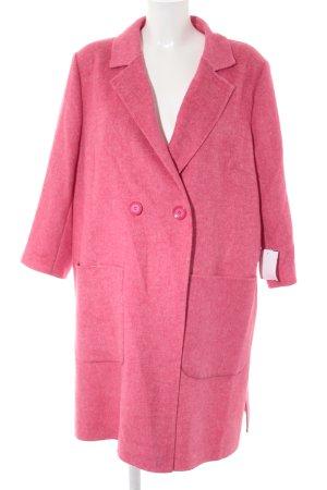 Cappotto in lana rosa stile casual
