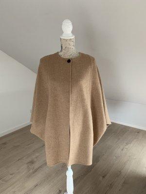 Zara Abrigo de lana beige-camel
