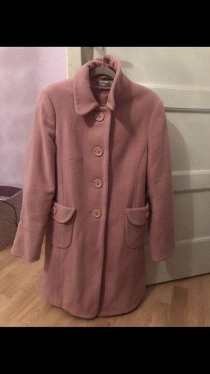 Wollmantel rosa Gr L