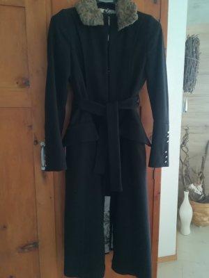 Sisley Coat black wool