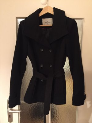 Blue Motion Wool Coat black