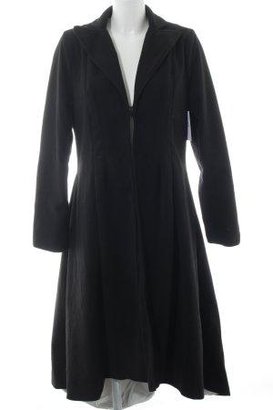 Manteau en laine noir style mode des rues