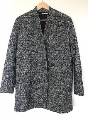 Stradivarius Manteau en laine noir-blanc