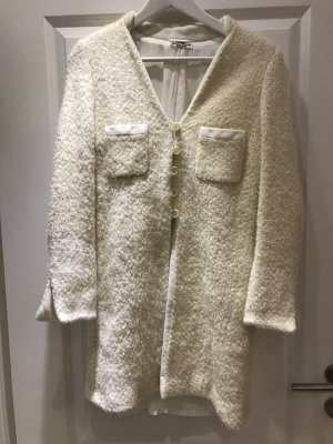 Abrigo de lana blanco puro