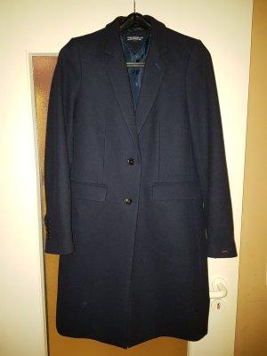 Tommy Hilfiger Wollen jas donkerblauw Wol