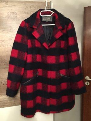 Cecil Cappotto in lana blu scuro-rosso