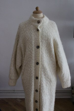 Coarse Knitted Jacket natural white