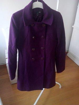 Wollmantel Violett H&M Zara