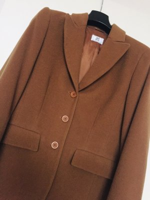 Alba Moda Wool Coat cognac-coloured