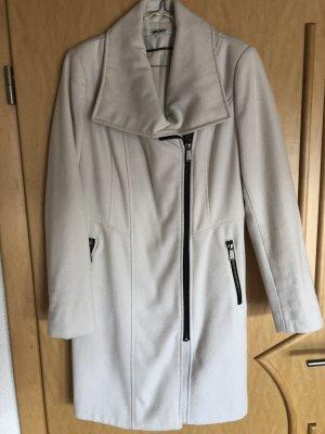 DKNY Abrigo de lana blanco-negro