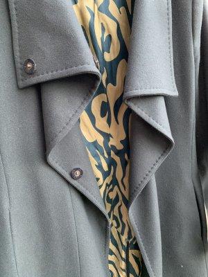 Drykorn Cappotto in lana petrolio-grigio-verde