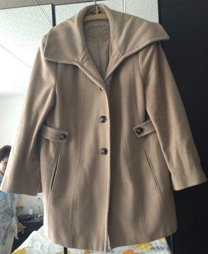 Gerry Weber Cappotto in lana crema-beige chiaro