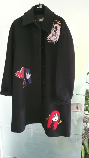 Love Moschino Wool Coat black wool
